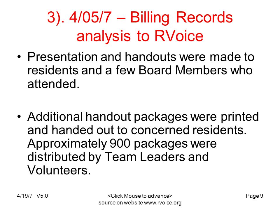 4/19/7 V5.0 source on website www.rvoice.org Page 10 4).