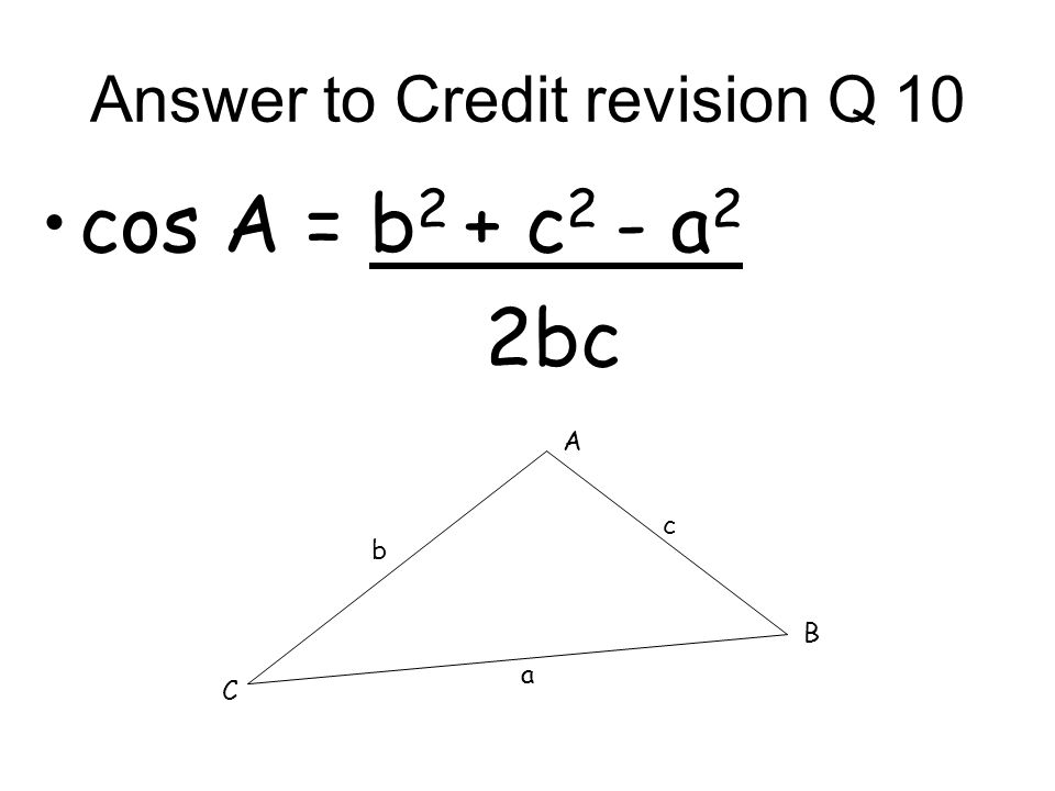 Answer to Credit revision Q 9 It means there is a root eg x = x 2 1 --
