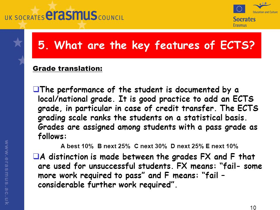 10 5. What are the key features of ECTS.
