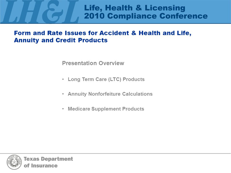 Form and Rate Issues for Accident & Health and Life, Annuity and Credit Products Long Term Care LTC Partnership Program LHL570(LTC) Insurer Certification Form (28 TAC § 3.3873(a)(2))