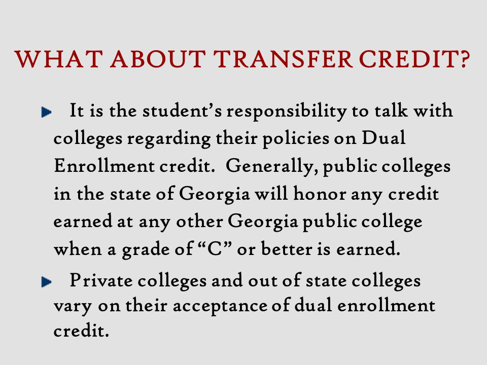 Submit Application and all supporting information to West Georgia College.