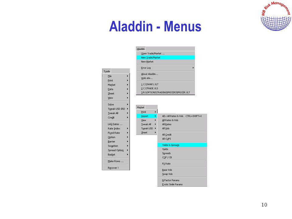 10 Aladdin - Menus