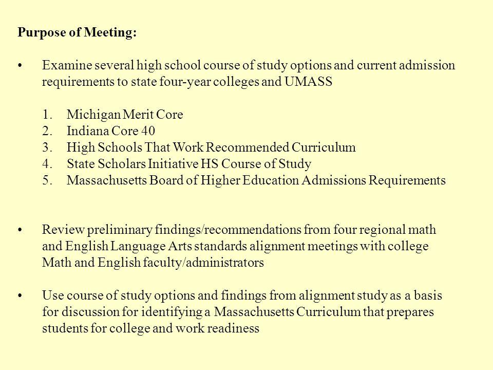 Michigan Merit Core Curriculum On April 20, 2006, Michigan Governor Jennifer M.
