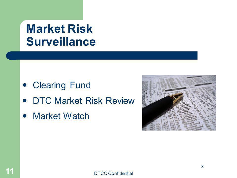 DTCC Confidential 11 Market Risk Surveillance 8 Clearing Fund DTC Market Risk Review Market Watch
