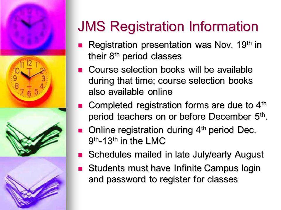 JHS Graduation Requirements Total Credits Needed = 24 ENGLISH 4 Credits Needed (8 Semesters) MATH 3 Credits Needed (6 Semesters or 3 blocked periods) SCIENCE 3 Credits Needed (6 Semesters) P.E.
