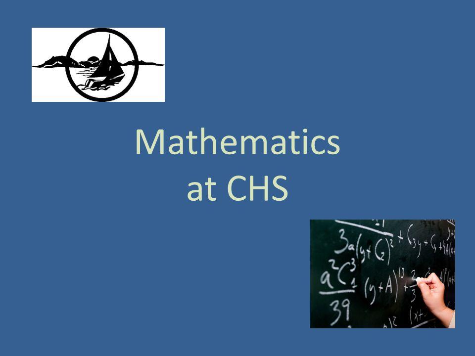 Mathematics at CHS