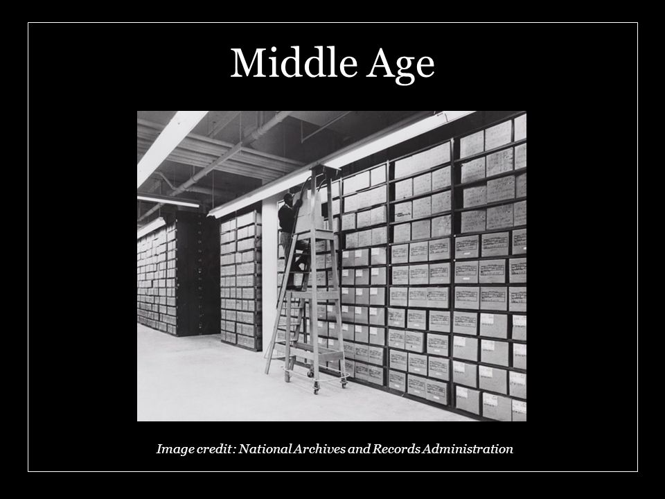 Middle Age Image credit: National Archives and Records Administration