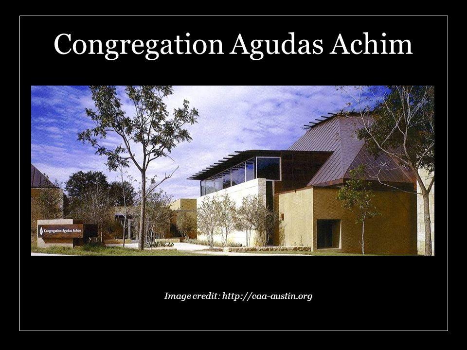 Congregation Agudas Achim Image credit: http://caa-austin.org