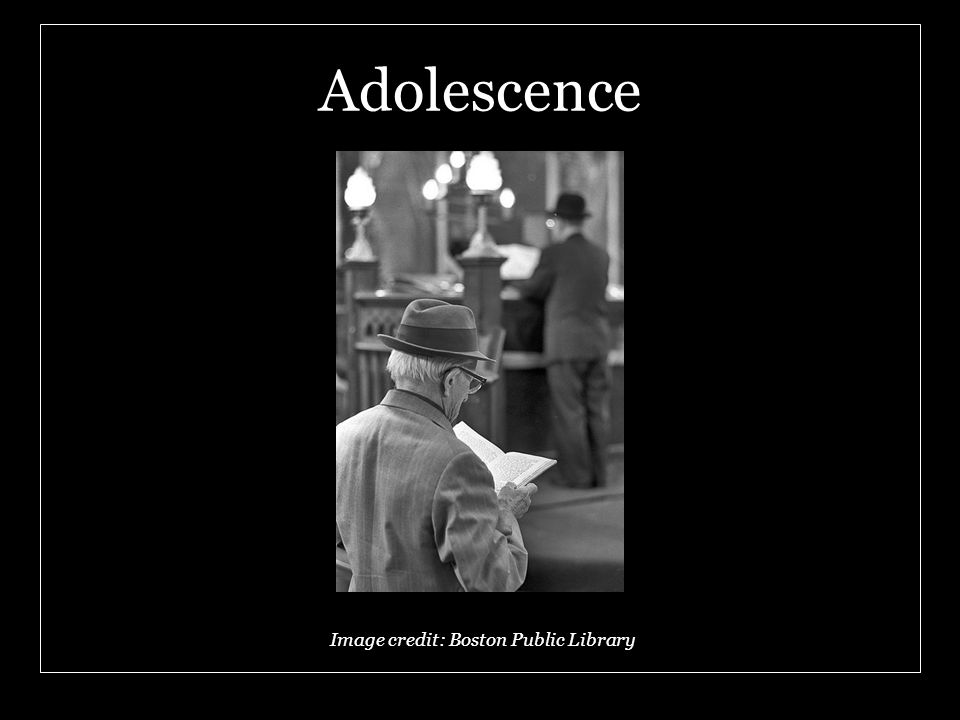 Adolescence Image credit: Boston Public Library