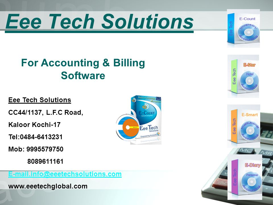 Simple & easy to use inventory management with fully tested accounting software integrated with our all products.