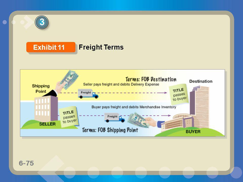 6-75 3 Freight Terms Exhibit 11