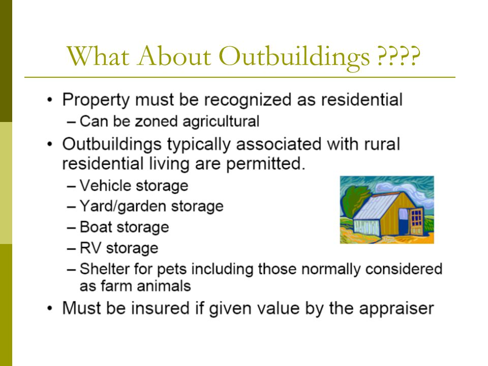 What About Outbuildings