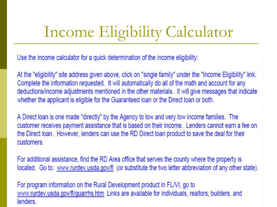 Income Eligibility Calculator
