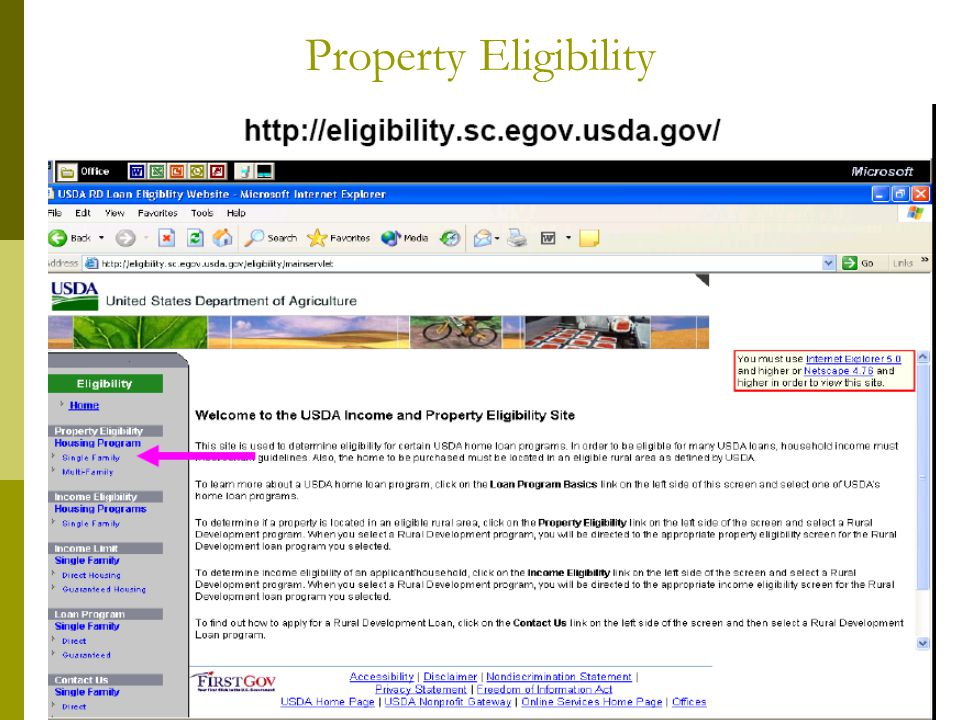 Property Eligibility