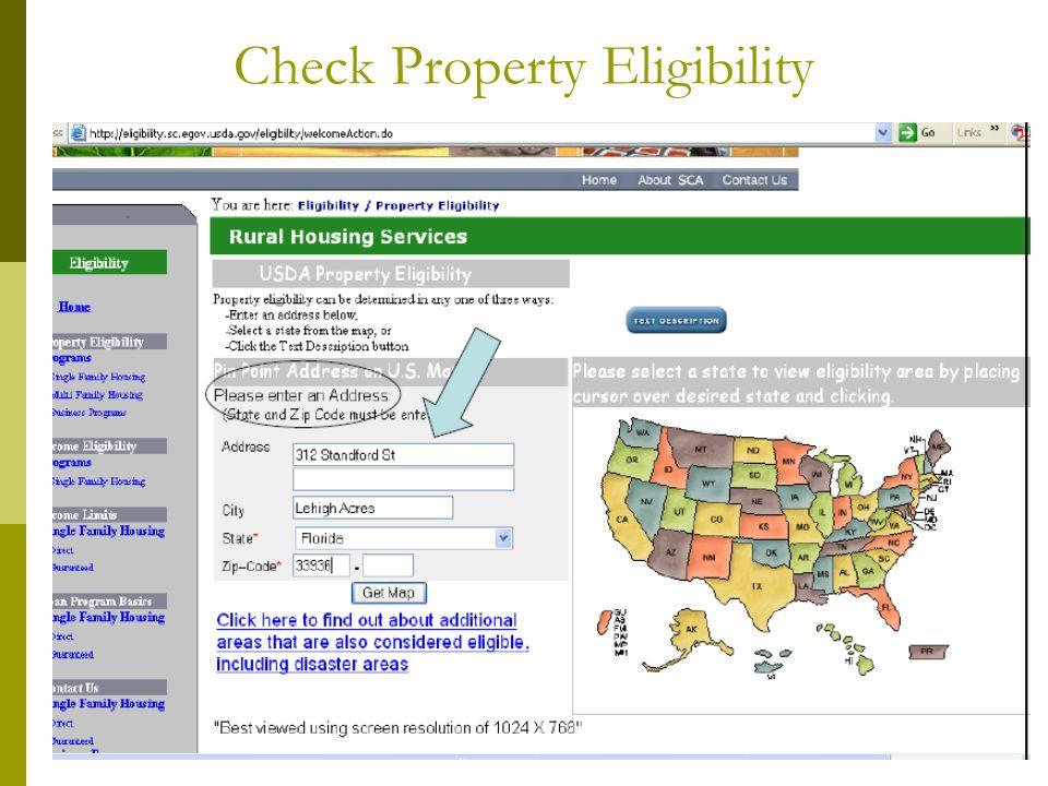 Check Property Eligibility
