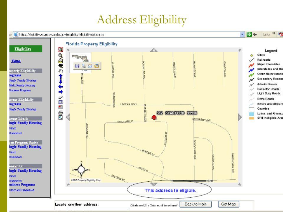 Address Eligibility