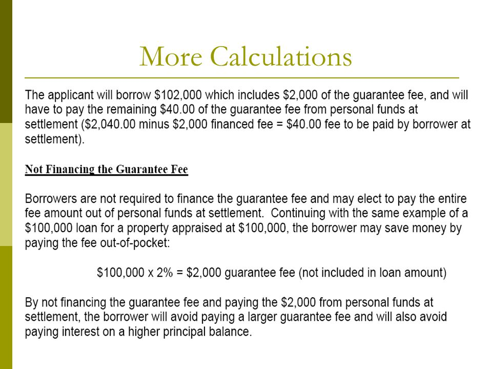 More Calculations