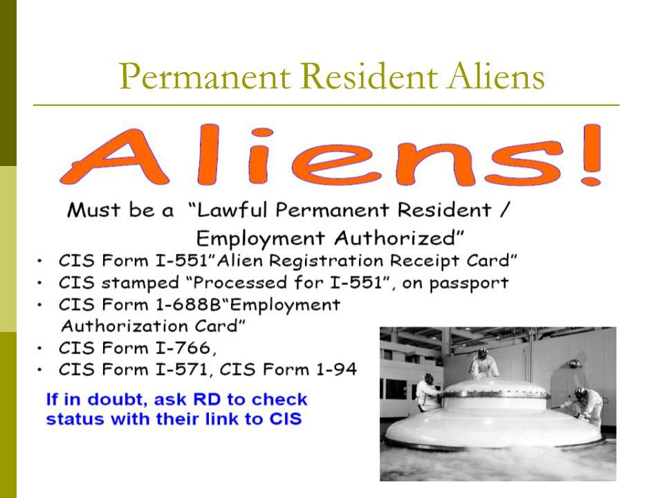 Permanent Resident Aliens