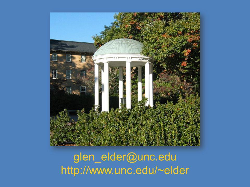 glen_elder@unc.edu http://www.unc.edu/~elder
