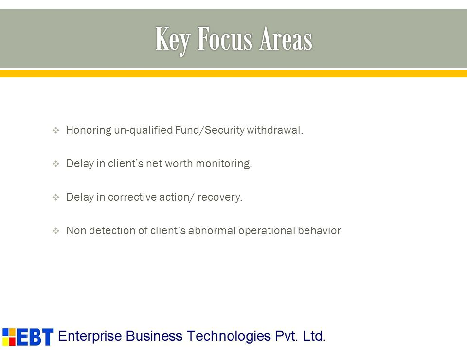 Honoring un-qualified Fund/Security withdrawal. Delay in clients net worth monitoring.