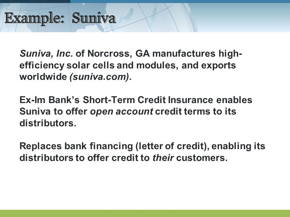 Example: Suniva Suniva, Inc.