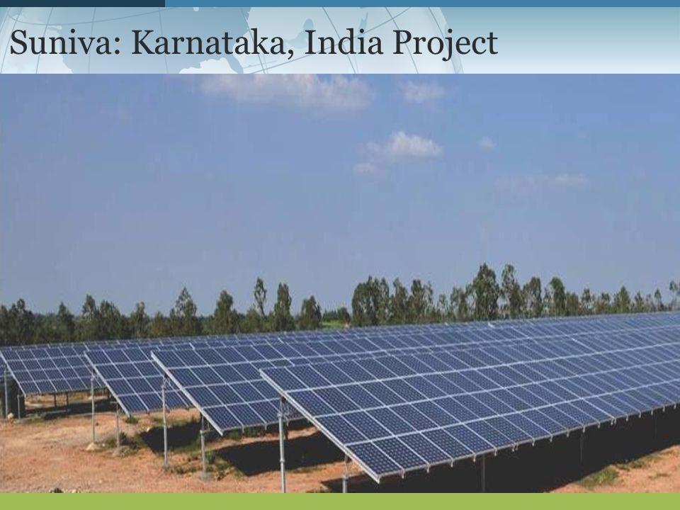 : Suniva: Karnataka, India Project