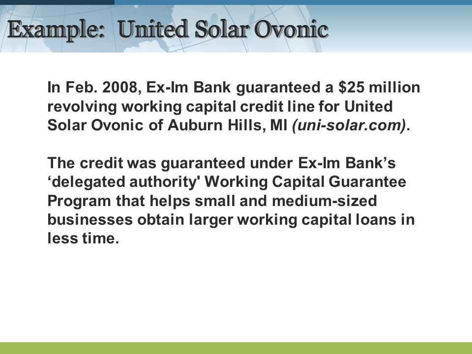 Example: United Solar Ovonic In Feb.