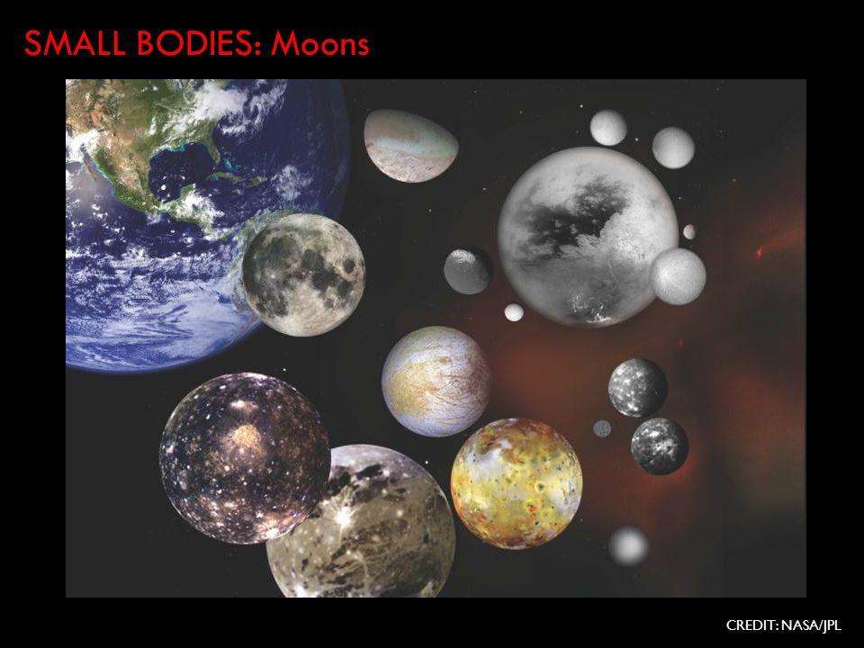 CREDIT: NASA/JPL SMALL BODIES: Moons
