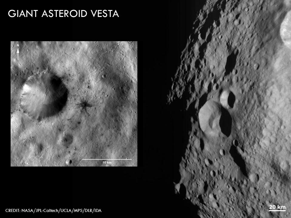 CREDIT: NASA/JPL-Caltech/UCLA/MPS/DLR/IDA GIANT ASTEROID VESTA