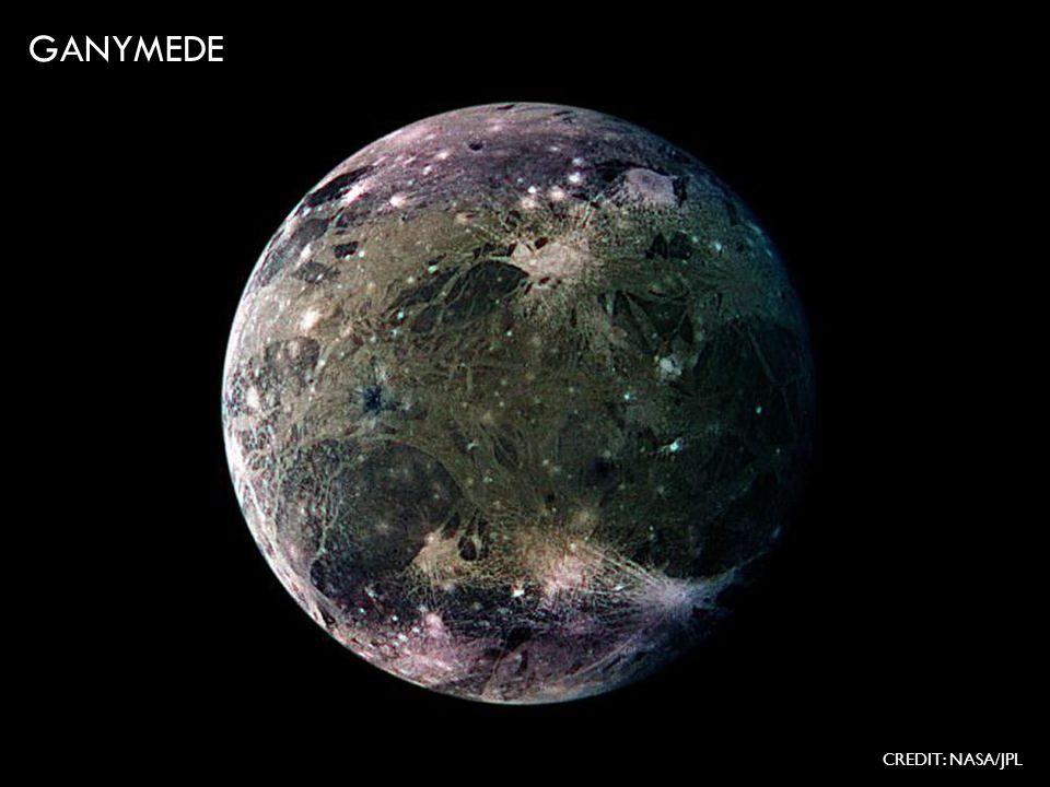 GANYMEDE CREDIT: NASA/JPL