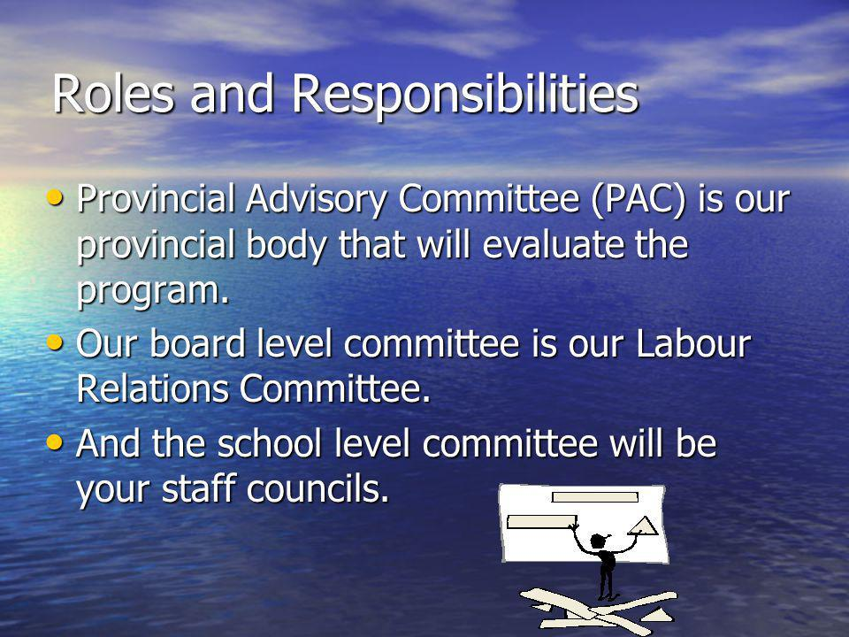 Roles & Responsibilities cont The Mandate of the Board level Committee(LRC) is: 1 Receive the information on the amounts made available to RSB by MELS.