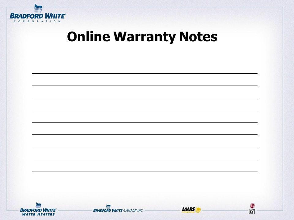 Online Warranty Notes