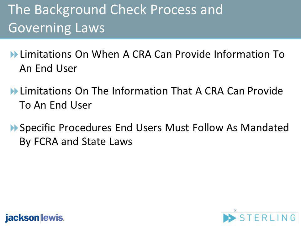 Limitations On When A CRA Can Provide Information To An End User Limitations On The Information That A CRA Can Provide To An End User Specific Procedu