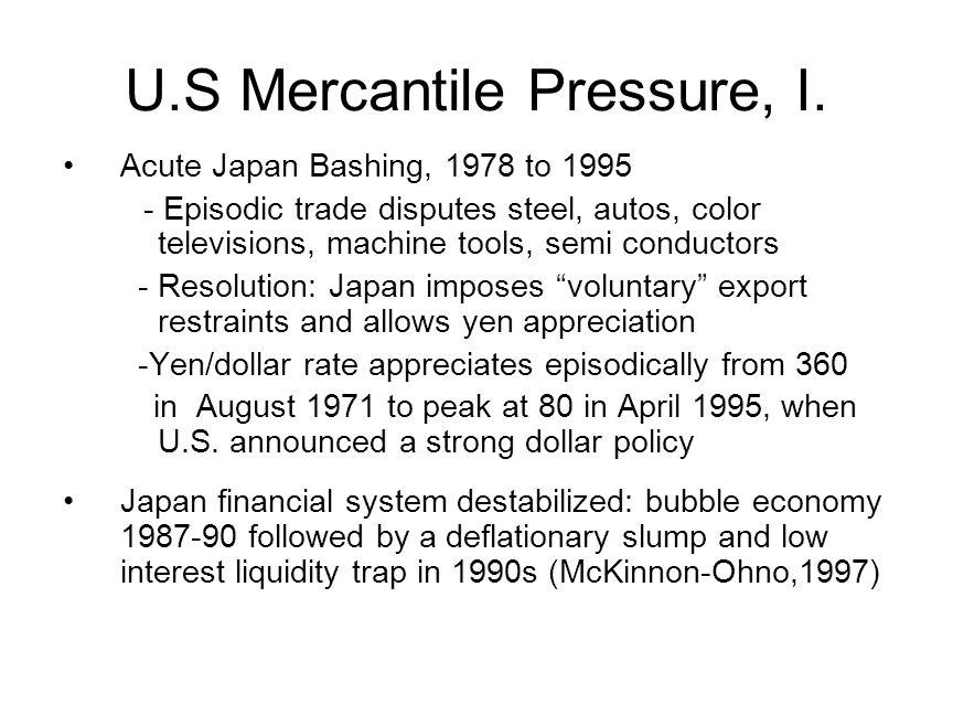 U.S.Mercantile Pressure, II. China Bashing: 2000 to .