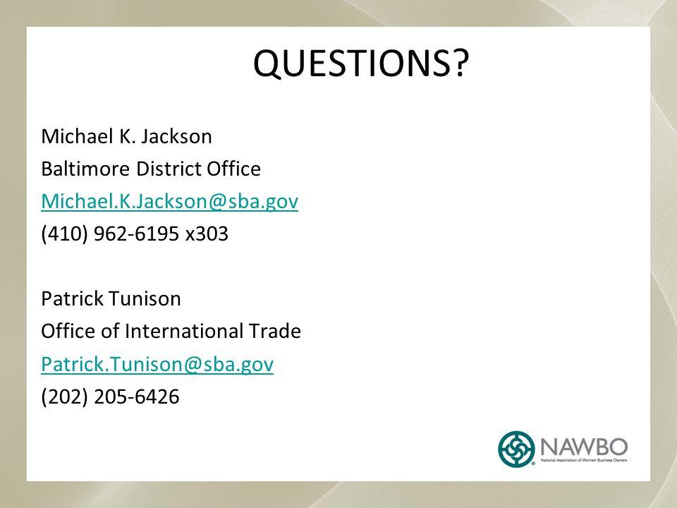 QUESTIONS.Michael K.