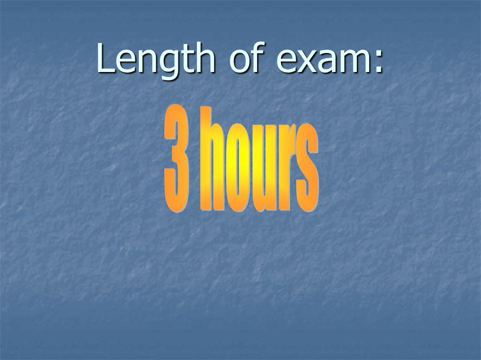 Length of exam: