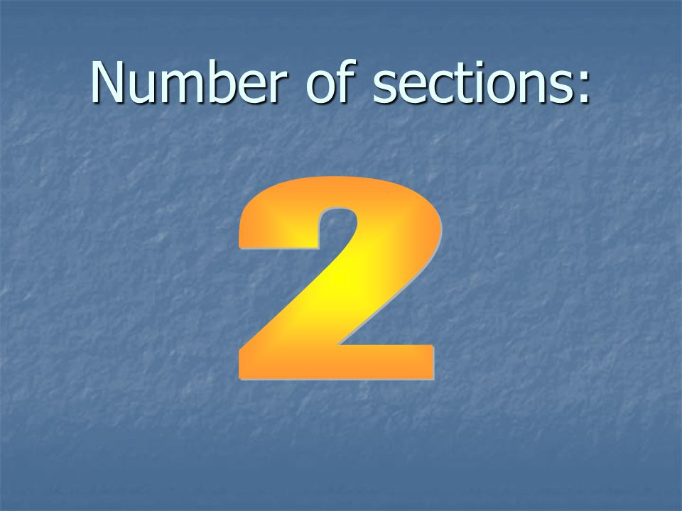 Number of sections: