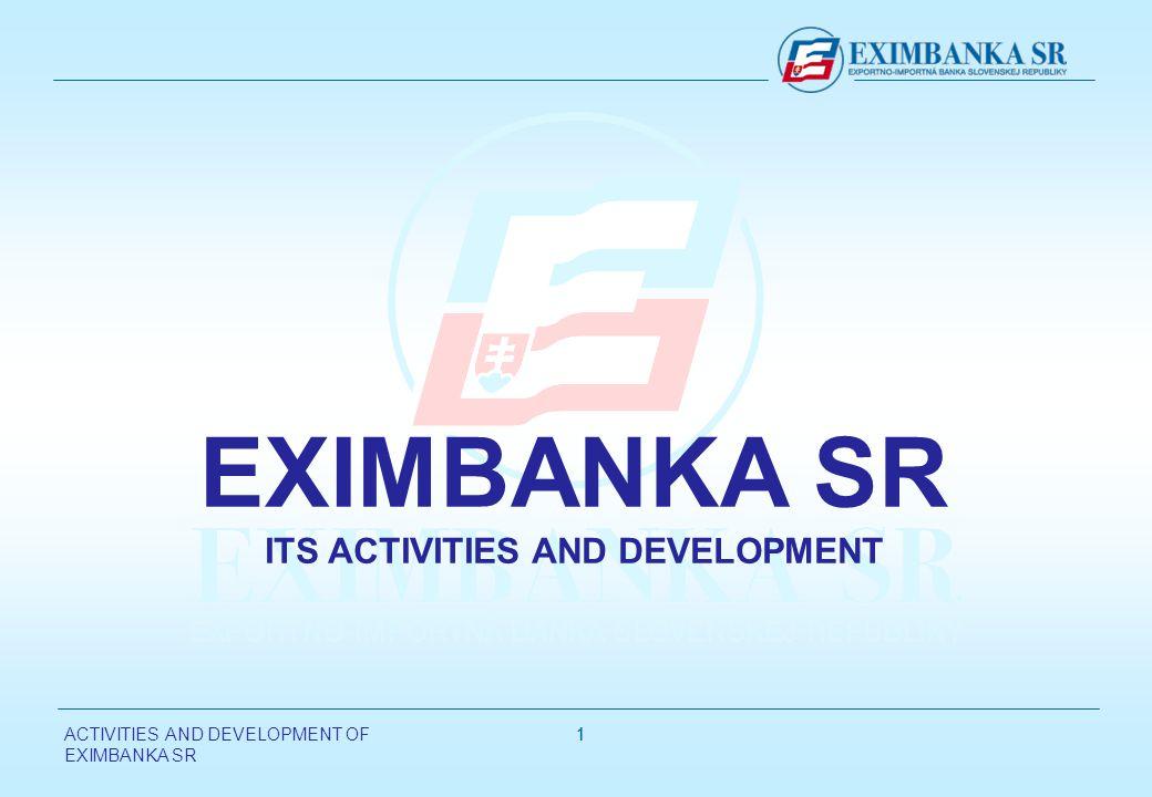 ACTIVITIES AND DEVELOPMENT OF EXIMBANKA SR 11 EXIMBANKA SR ITS ACTIVITIES AND DEVELOPMENT