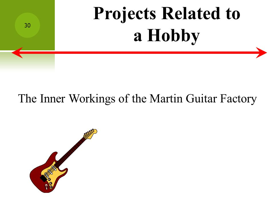 Projects Related to a Hobby The Inner Workings of the Martin Guitar Factory 30