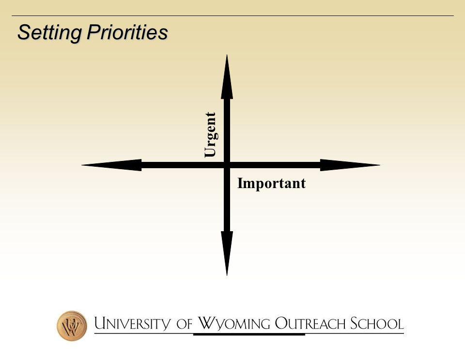 Important Urgent Setting Priorities
