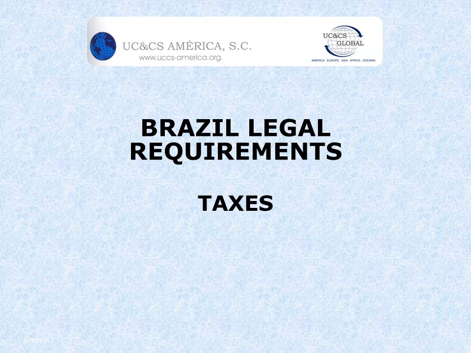 Topics Introduction Main Taxes Main Tax Books and Accessory Obligations SPED Substituição Tributária Off Set rules Statute of Limitations Tax Incentives Accounting Practices in Brazil Banking communication