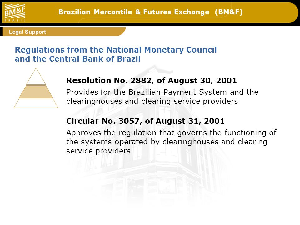 Brazilian Mercantile & Futures Exchange (BM&F) Resolution No.