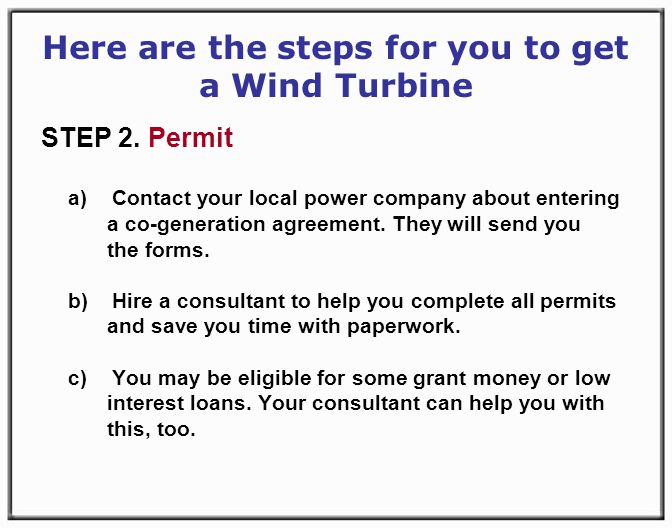 Here are the steps for you to get a Wind Turbine STEP 2.