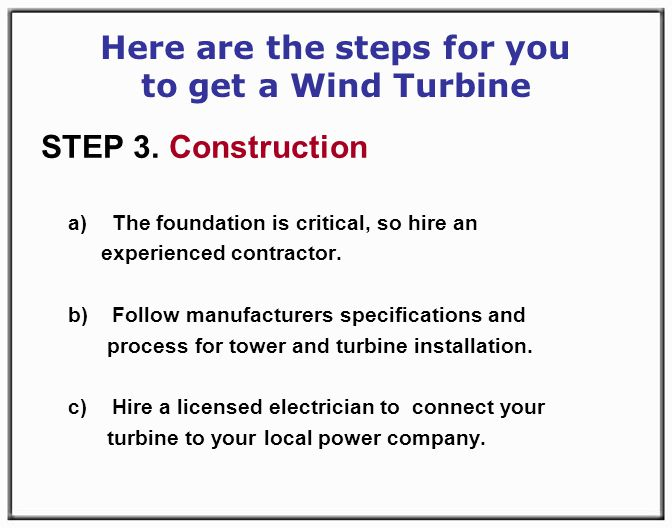 Here are the steps for you to get a Wind Turbine STEP 3.