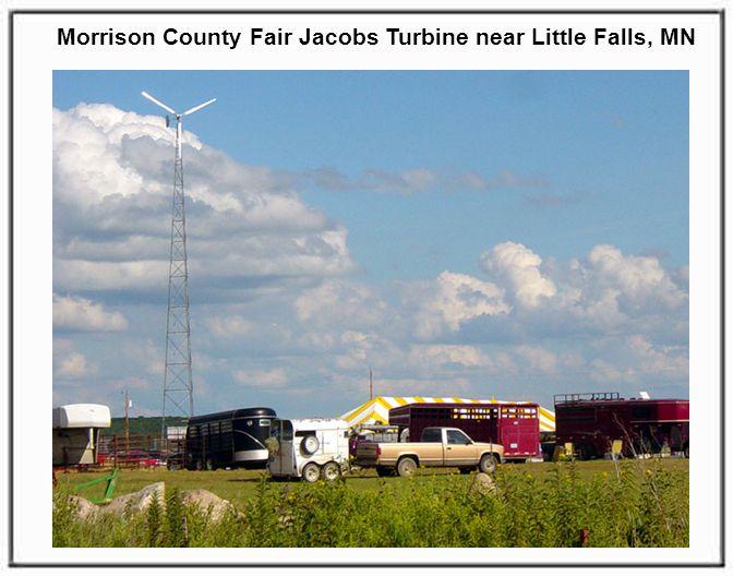 Morrison County Fair Jacobs Turbine near Little Falls, MN