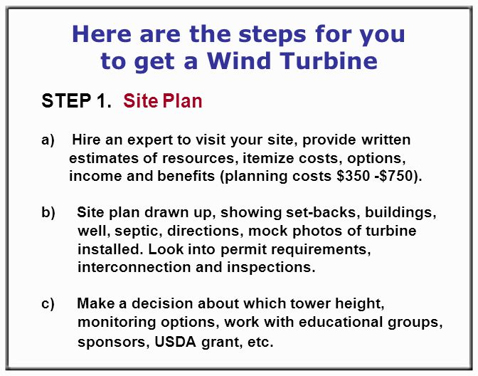Here are the steps for you to get a Wind Turbine STEP 1.