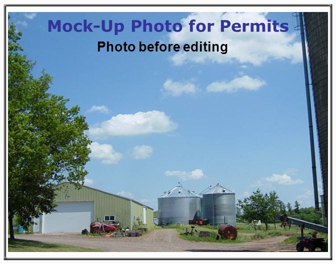 Mock-Up Photo for Permits Photo before editing