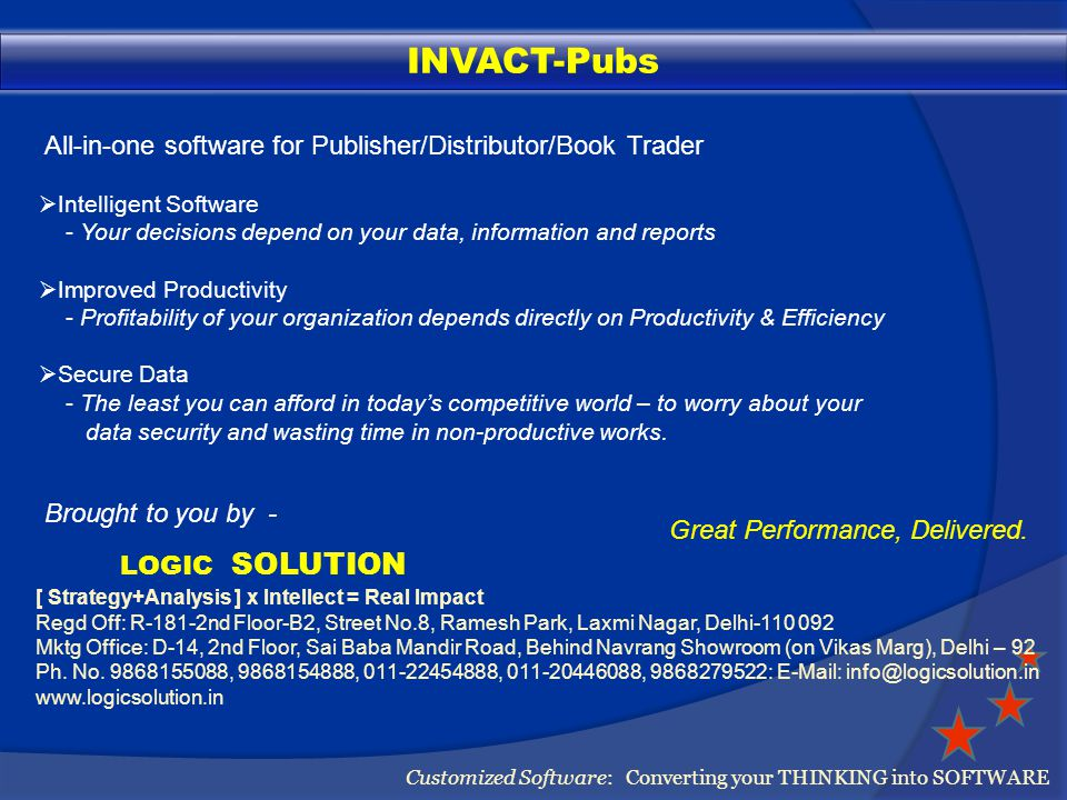 Financial Accounting Customized Software: Converting your THINKING into SOFTWARE