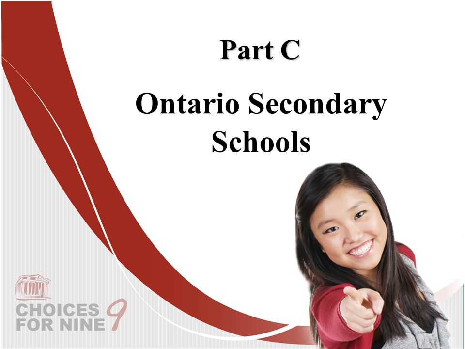 Ontario Secondary Schools Part C