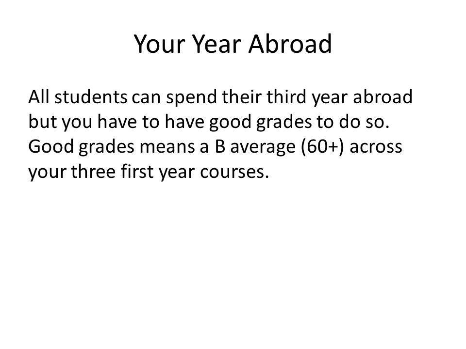 Your Year Abroad Where can you go.
